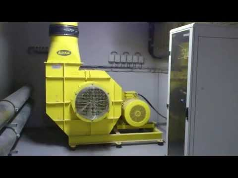 Swimming pool wave machine fan startup (70kW)