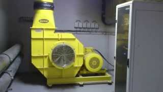 Swimming pool wave machine fan startup (70kW)