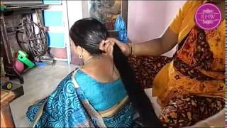 ILHW Rapunzel Gauri Heavy Oiling by her Cousin to her Knee  Length Mane
