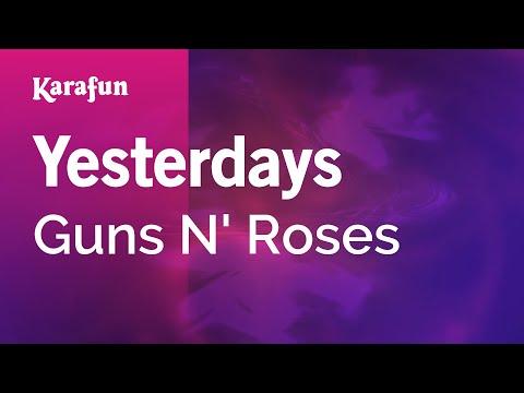 Karaoke Yesterdays - Guns N' Roses *