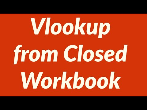How to perform Vlookup from Closed Workbook - YouTube