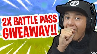 2X BATTLE PASS GIVEAWAY! - Fortnite Battle Royale S3 | #ROADTO50K