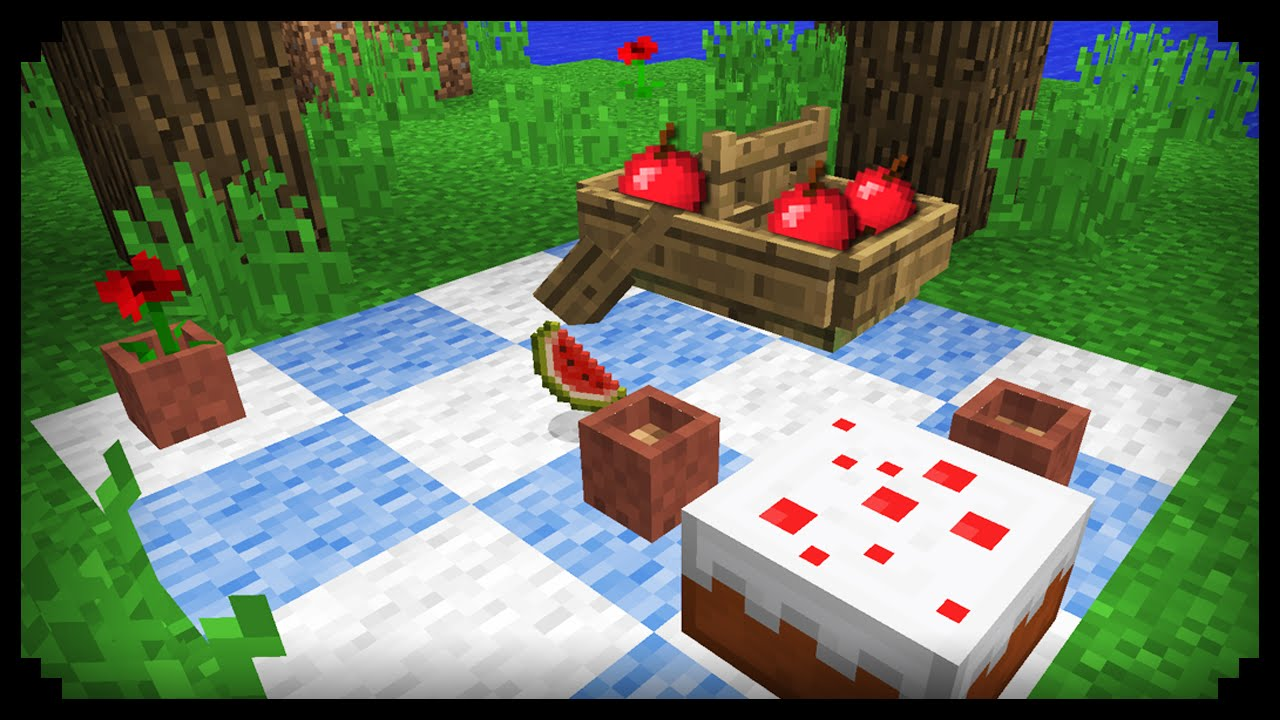 Make a picnic table for Minecraft carpentry bench