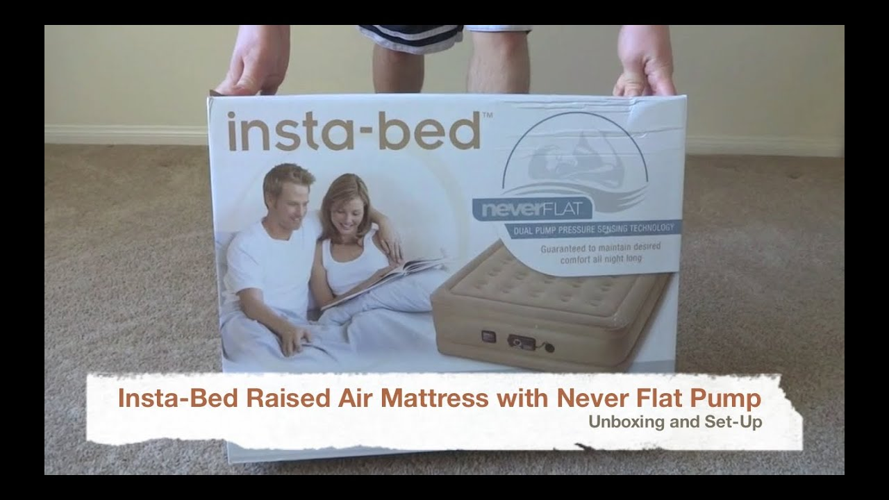 setting up the insta-bed never flat air bed - youtube