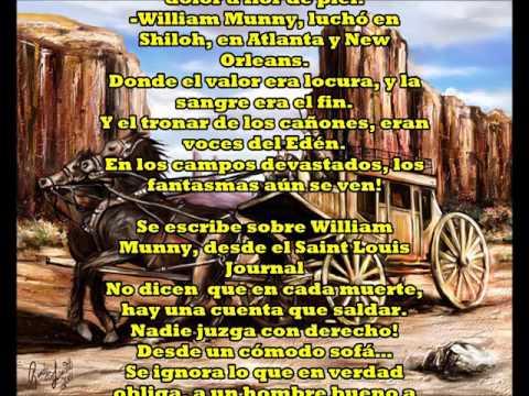 "WILLIAM MUNNY (Unforgiven song) ""Sin Perdón"" by: J.M.Baule"