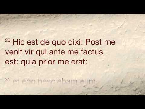 John 1, Latin Vulgate