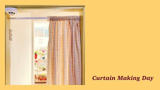 Curtain making day, 체크커텐 만들던 날…