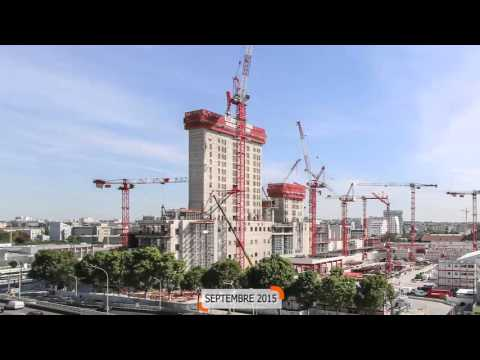 Time Lapse Futur Palais de Justice de Paris/Future Paris Law Courts