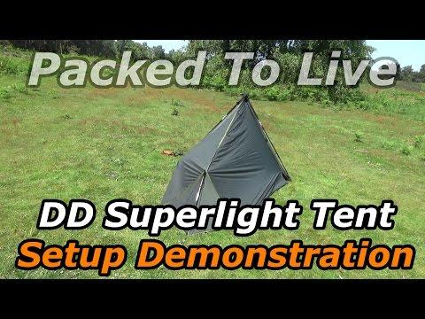 DD Hammocks Superlight Tent Setup