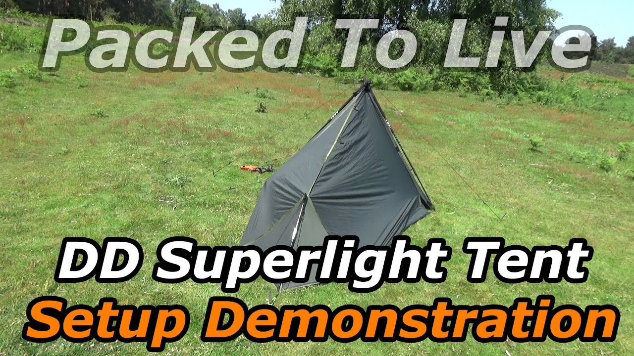 & DD Hammocks Superlight Tent Setup - YouTube