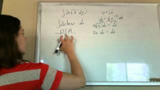 integration by parts ln root x u sub first
