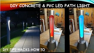 DIY Concrete PVC LED Path Light