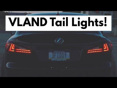VLAND LED Tail Lights Install - 2007 Lexus IS 350