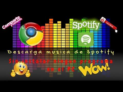 Descarga música de Spotify sin programas y gratis