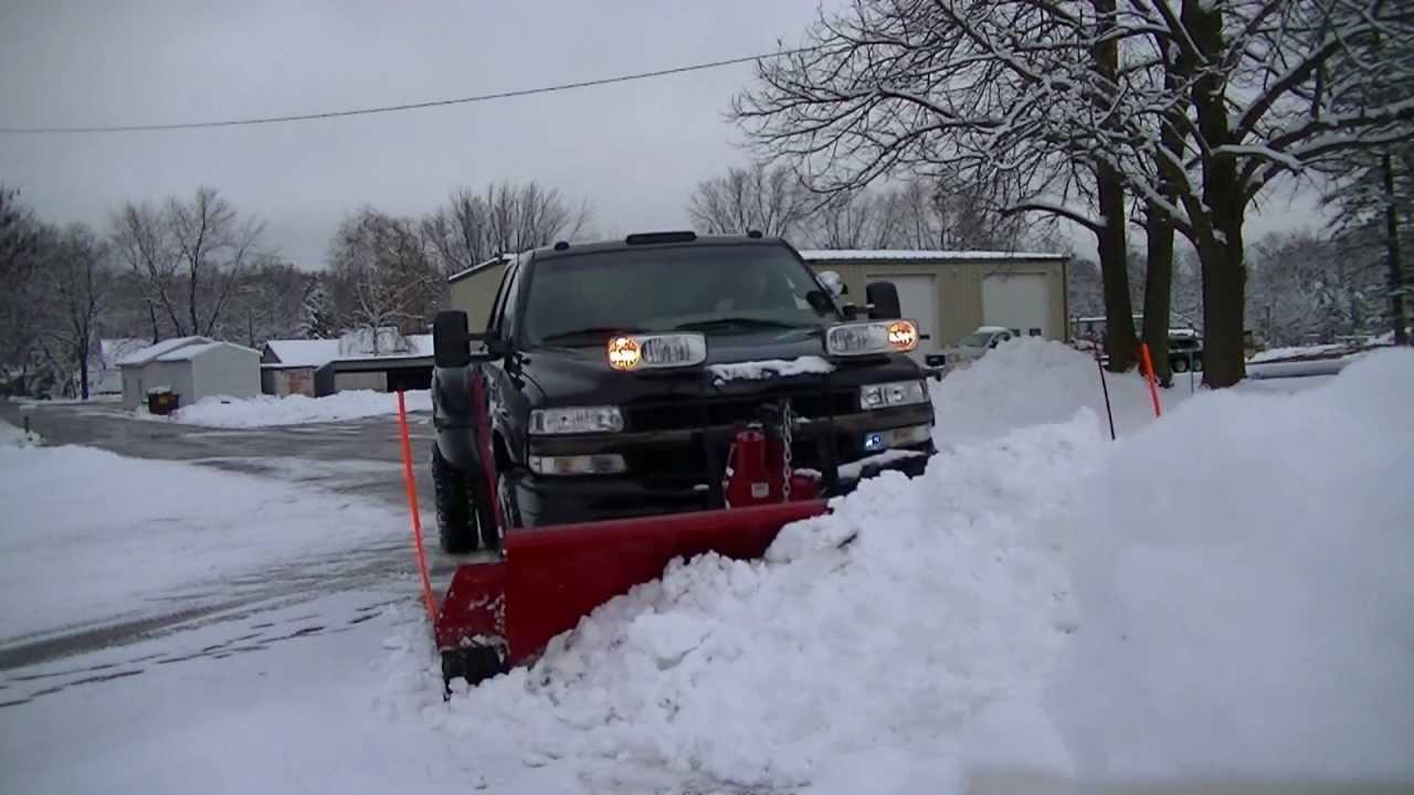 Snowplowing 02 Silverado Dually Duramax Western Pro Plow