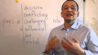 play a key role классные выражения для эссе