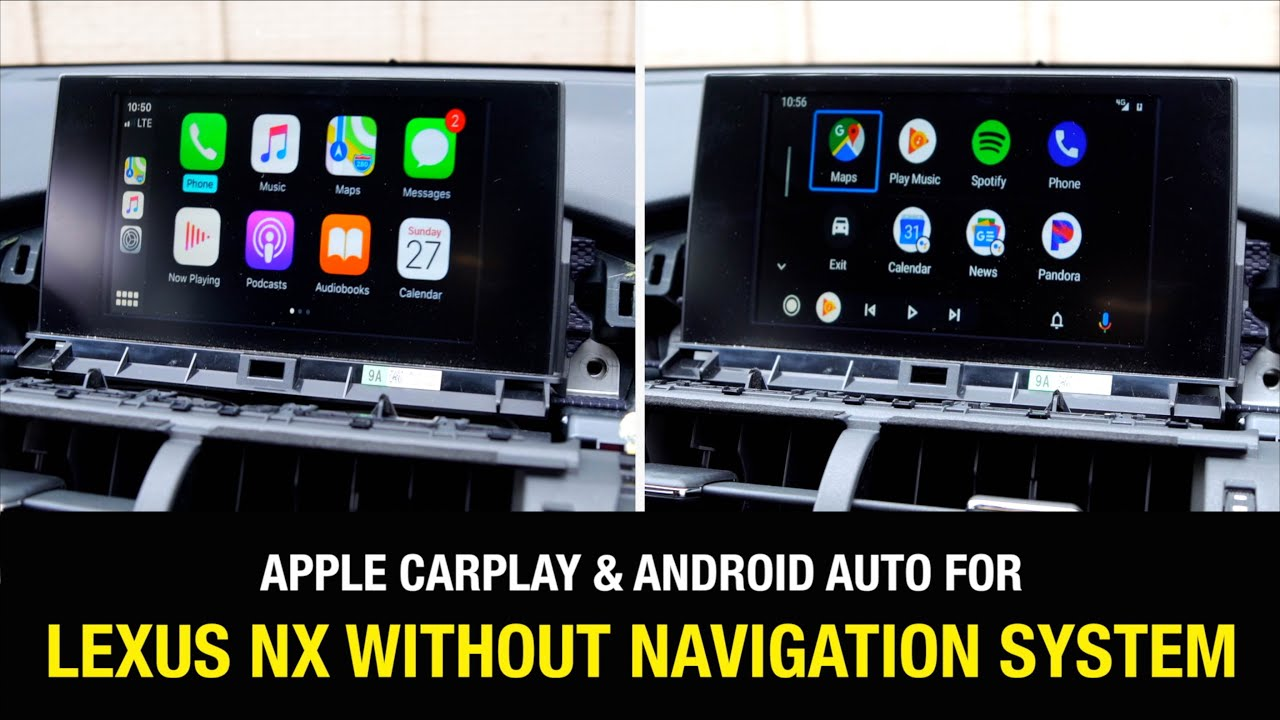 2015 2017 Lexus Nx Without Factory Navigation Apple Carplay Android Auto Install Demo Youtube
