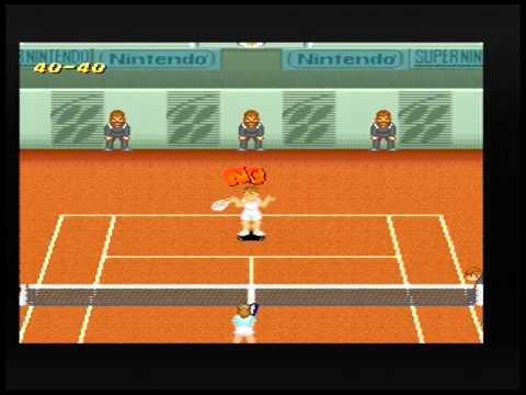 Super Tennis (SNES) - Multiplayer Match #1 - Singles