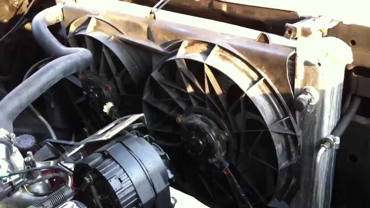 small resolution of a gear heads garage update 7 june 2013 electric fans on the c10 and the squirter youtube