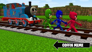 Who is Strongest? PJ MASKS or THOMAS.EXE in Minecraft - Coffin Meme Compilation