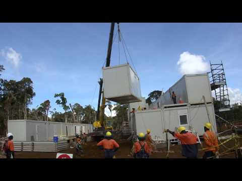 Double Stories Building Units Crane Lift Ark in PNG