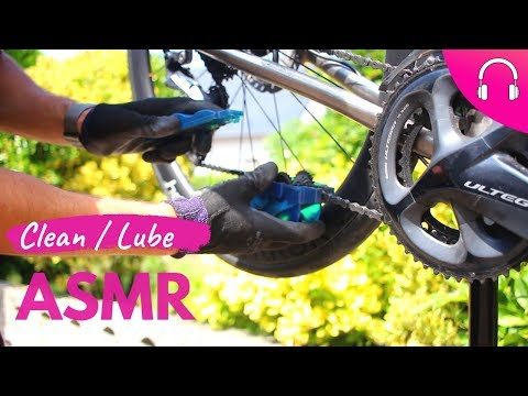 HOW to CLEAN and LUBE a BIKE CHAIN | Bike Sounds ASMR