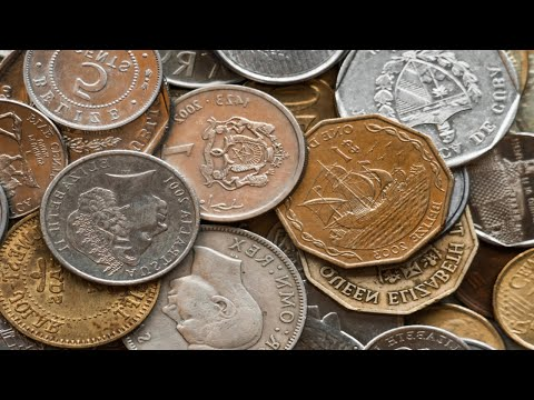 Searching 5 Pound Foreign Coin Lots for Silver & Rare coins - Video for CoinHunting Drew