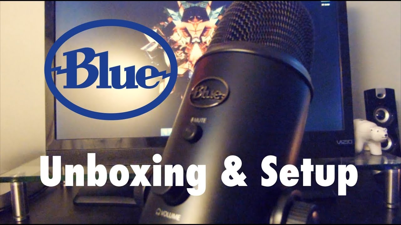 Blue Yeti Blackout Microphone || Unboxing and Setup