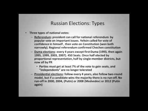 Russia: political culture, parties, elections, and linkage institutions