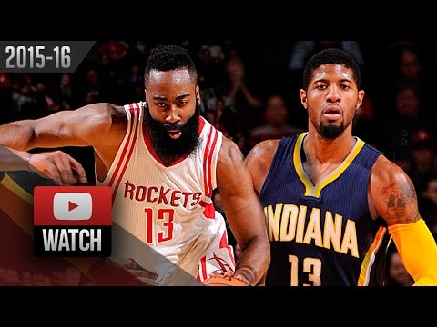 Paul George vs James Harden DUEL Highlights (2016.01.10) Rockets vs Pacers - EPIC!
