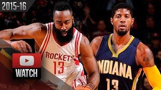 Paul George vs James Harden DUEL Highlights (2016.01.10) Rockets vs Pacers - EPIC!