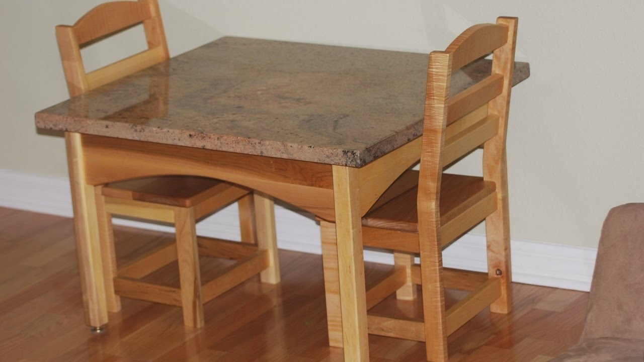 Childrens Wooden Table And ChairsYouTube