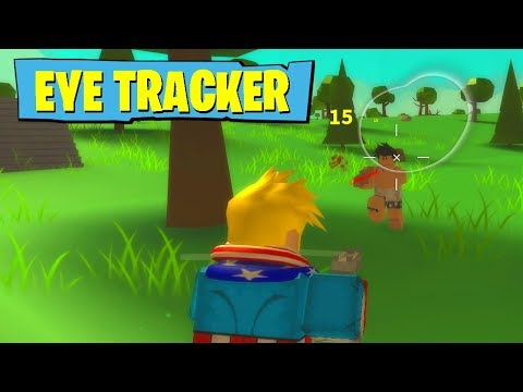 USING EYE TRACKER IN ROBLOX FORTNITE!