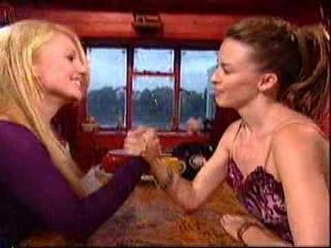 Kylie minogue amp geri halliwell arm in2 tounge wrestling