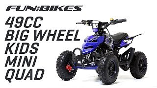 FunBikes 49cc Blue Kids Big Wheel Mini Quad Bike