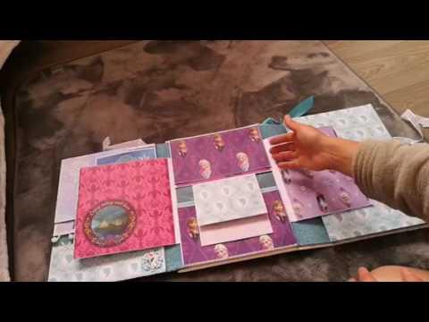 album scrap reine des neiges et rose sous cloche belle et la b te youtube. Black Bedroom Furniture Sets. Home Design Ideas
