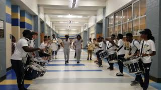 Battery Creek High Marching Band  2017 Tunnel (Practice)