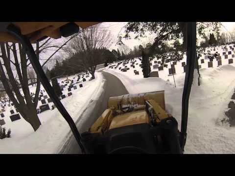 Head mounted GOPRO snowplowing and drift busting