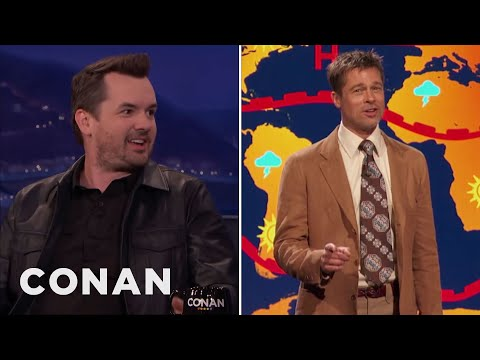How Jim Jefferies Got Brad Pitt To Be His Weatherman  - CONAN on TBS