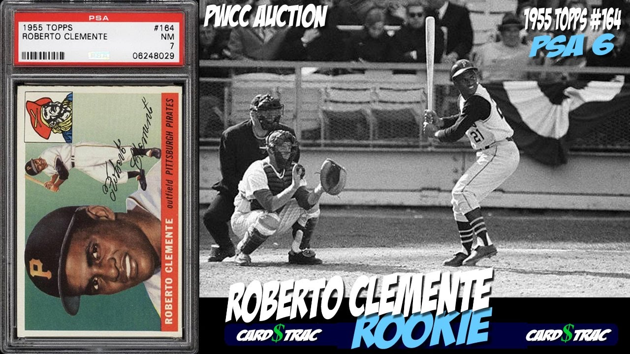 1955 Roberto Clemente Rookie Card Topps 164 Card For Sale Graded Psa 6