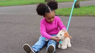 PLAYING & WALKING  WITH FurReal Pooping FRIEND PAx