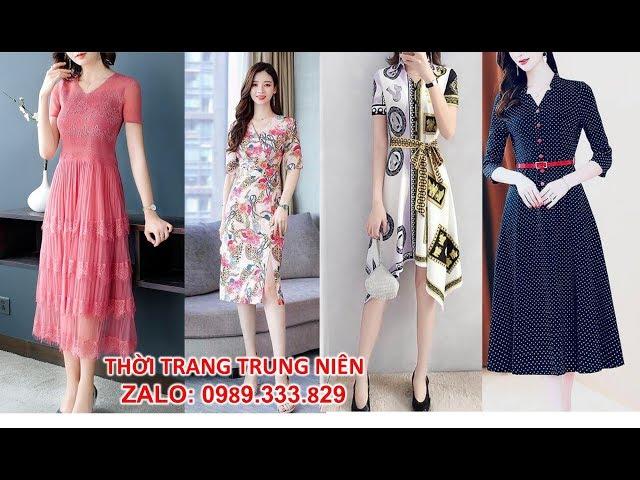 [Thời Trang Nữ Hoàng] Top 12 Đầm Trung Niên, Thời Trang Trung Niên đẹp sang trọng cao cấp U40, U50, U60 Mới Nhất tphcm