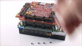 Using SAMTEC's new JSOM spacer to separate a PC/104 card from a SBC