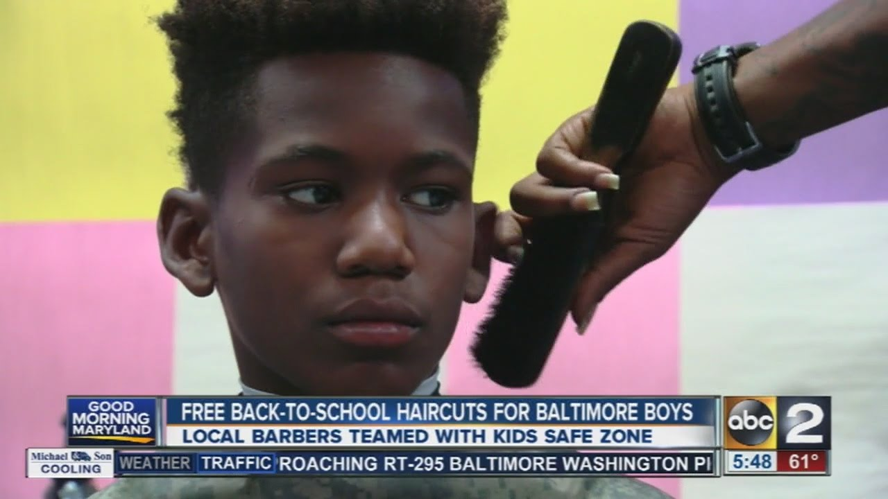 Free Back To School Haircuts For Baltimore Boys Youtube
