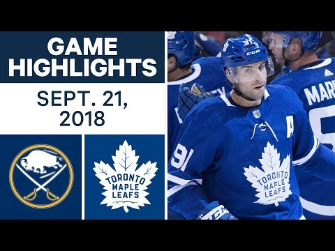 NHL Pre-season Highlights | Sabres vs. Maple Leafs - Sept. 21, 2018
