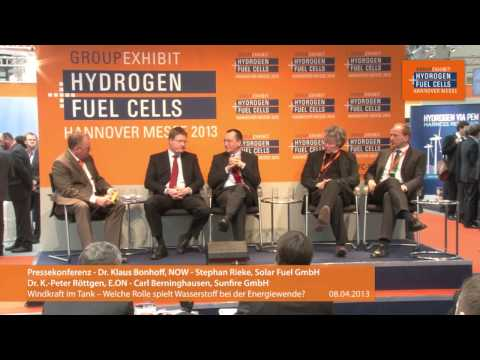 """Pressekonferenz: """"Windkraft im Tank -- Welche Rolle spielt Wasserstoff bei der Energiewende?"""""""