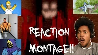 HORROR REACTION COMPILATION MONTAGE!!!