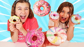 WHO CAN MAKE THE BEST DONUT SLIME CHALLENGE!!  JKrew