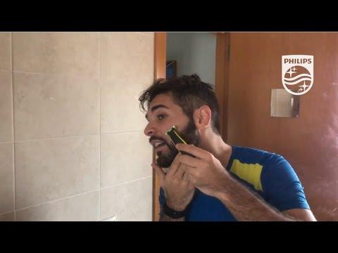 Perfilando mi barba en seco con Philips OneBlade  EstoEsOneBlade ... 3bad37d9e2bd