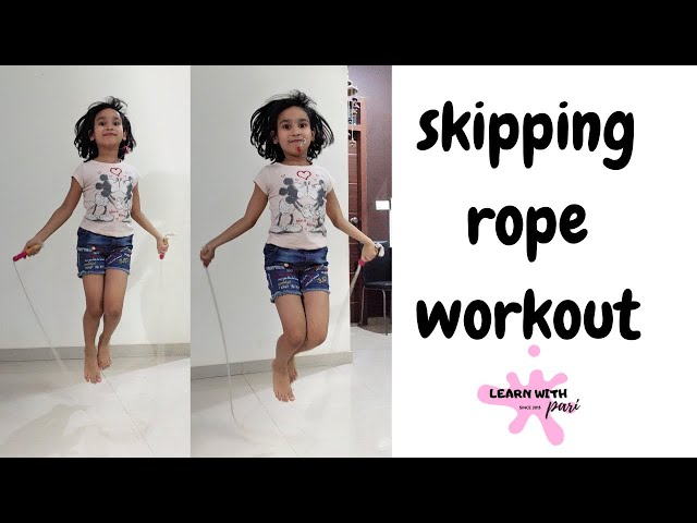 How to Jump Rope Easy Steps | Skipping rope workout | LearnWithPari